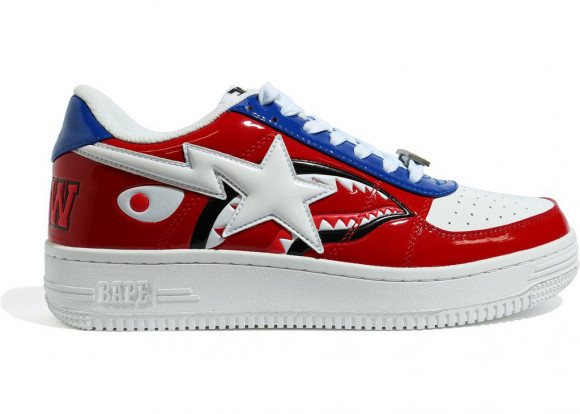 A Bathing Ape Bapesta M2 20th Anniversary Patent Red - 1G30-191-002-RED