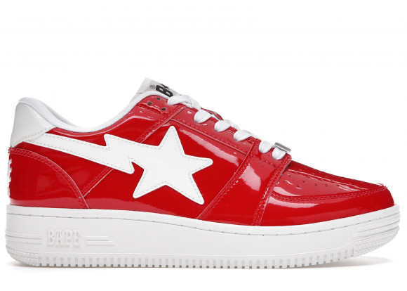 A Bathing Ape Bapesta Patent Red - 1G30191010-RED