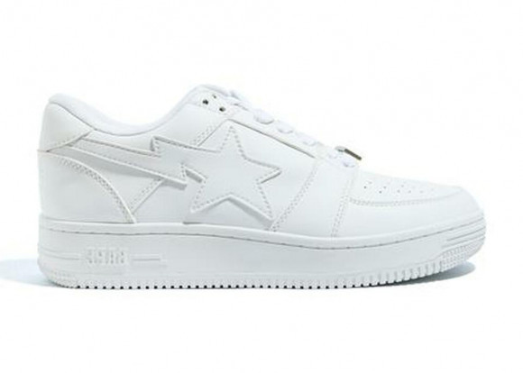 A Bathing Ape Bapesta Low White Leather (2020) - 1G80-191-007