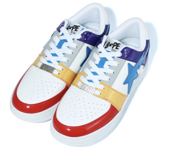 A Bathing Ape Bapesta Low Crazy White - 1G80191012