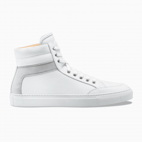 Top Bianco White Leather Suede Primo 9