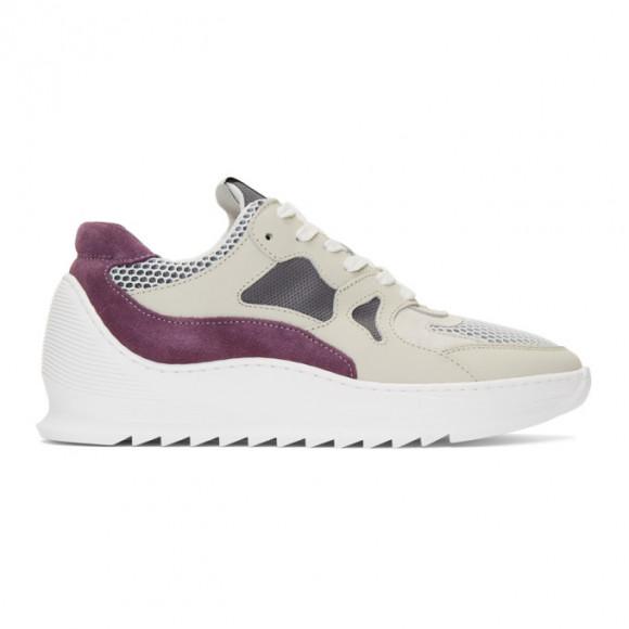 Filling Pieces Grey and Purple Plasma Orbit 2.0 Low Sneakers - 2472702