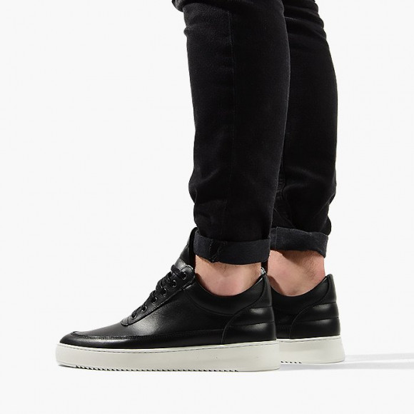 Filling Pieces Low Top Ripple Lane Nappa Black 25121721861PMZ - 25121721861PMZ