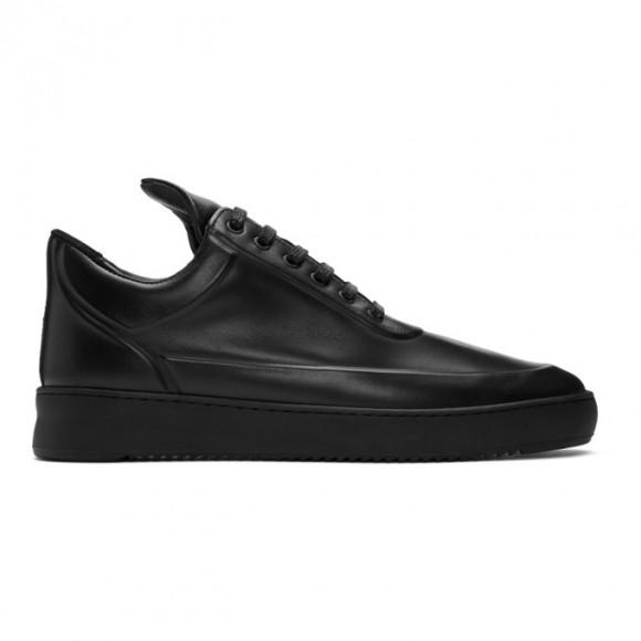Filling Pieces Black Ripple Embossed Low Top Sneakers - 2512760