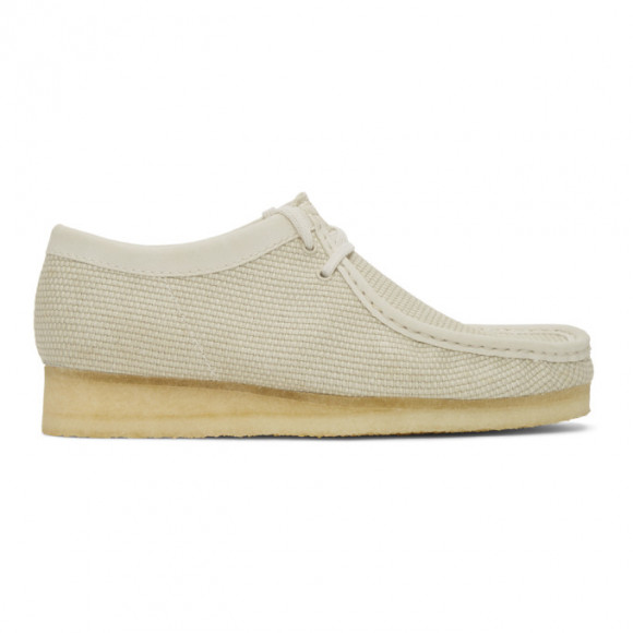 Clarks Originals Beige Canvas Wallabee Moccasins - 26150104