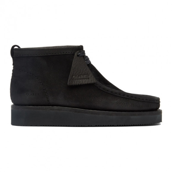 Clarks Originals Black Suede Wallabee Hike Desert Boots - 26152291