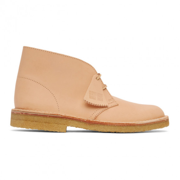 Clarks Originals Beige Nubuck Desert Boots - 26154833