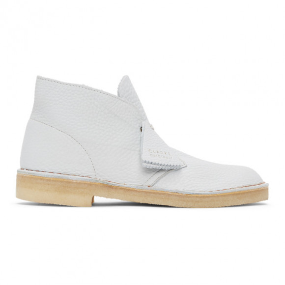 Clarks Originals Blue Leather Desert Boots - 26157327