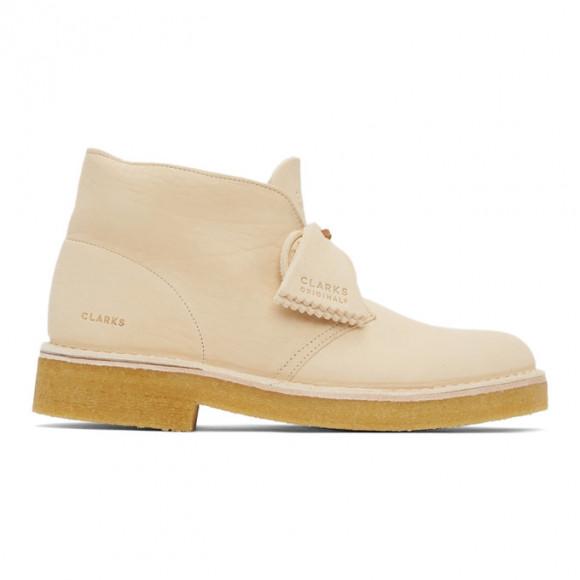 Clarks Originals Off-White Leather 221 Desert Boots - 26159528