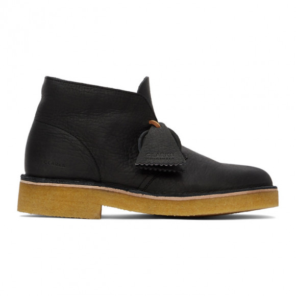 Clarks Originals Black Leather 221 Desert Boots - 26160779