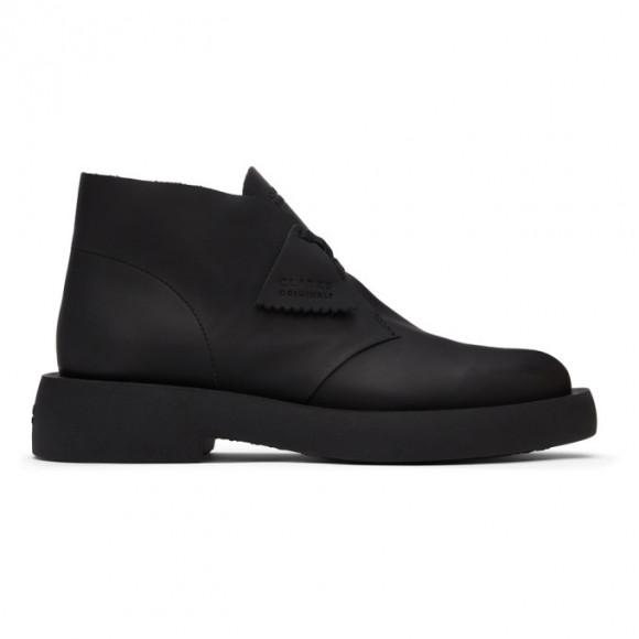 Clarks Originals Black Leather Mileno Desert Boots - 26160860