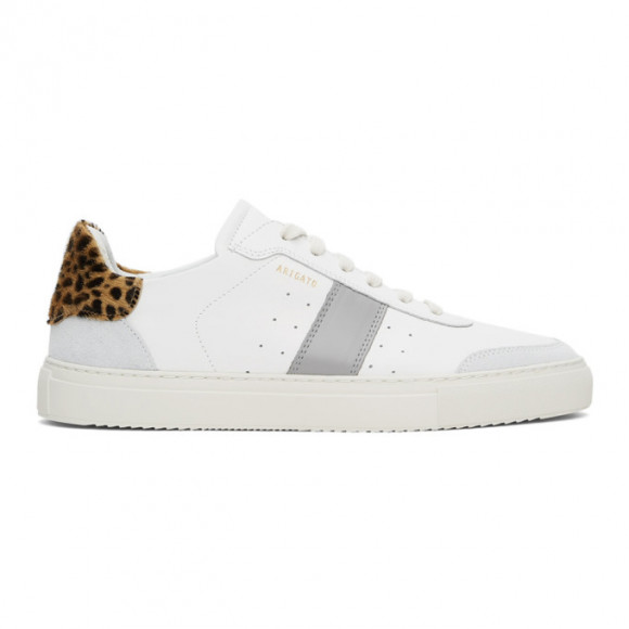 Axel Arigato White and Grey Leopard Dunk V2 Sneakers - 27556