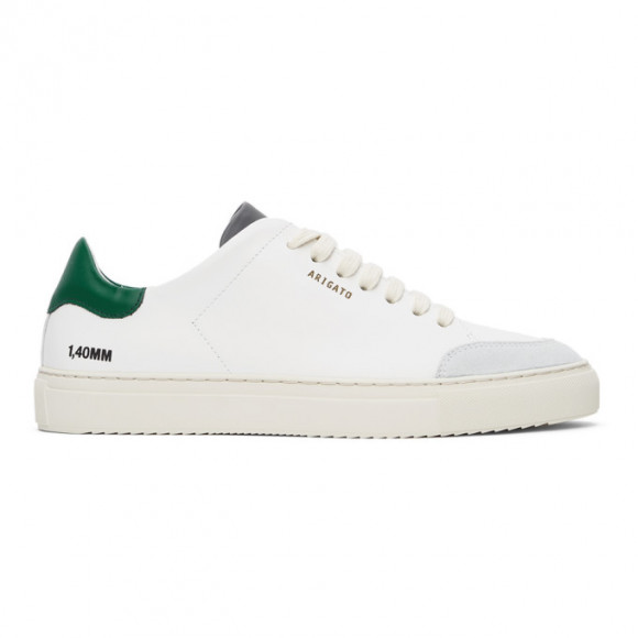 Axel Arigato SSENSE Exclusive White and Green Clean 90 Triple Sneakers - 27564