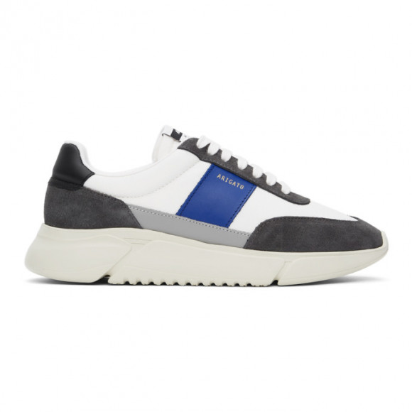 Axel Arigato SSENSE Exclusive White and Blue Genesis Vintage Sneakers - 27565