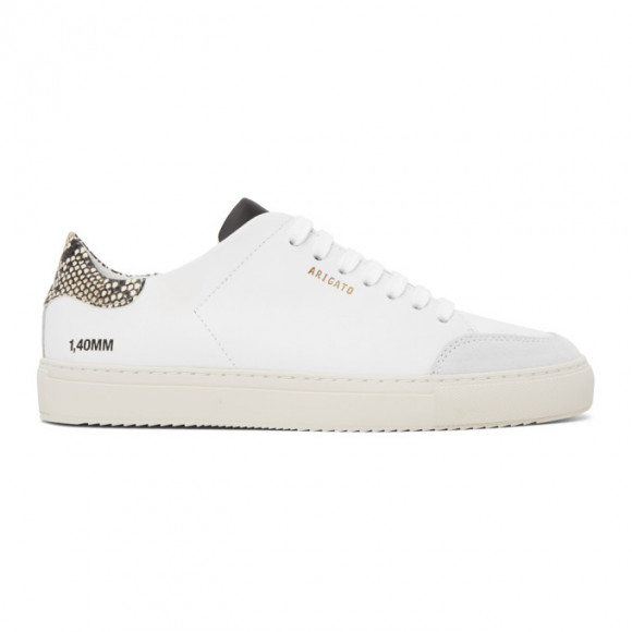 Axel Arigato White and Beige Snake Triple Clean 90 Sneakers - 28633