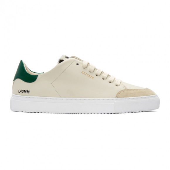 Axel Arigato Beige and Green Animal Triple Clean 90 Sneakers - 28646