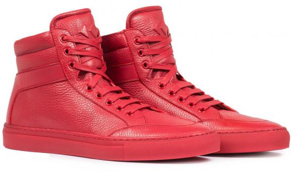 KOIO Men's High Top Flamma Red Leather Primo 10 (US) / 43 (EU) - 2960448195