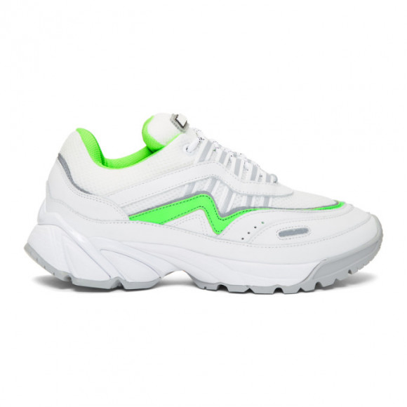 Axel Arigato White and Green Demo Sneakers - 30147