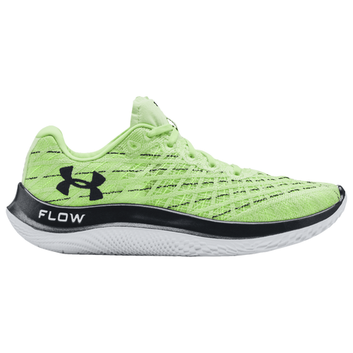 Under Armour Flow Velociti Wind - Men's Running Shoes - Summer Lime / White / Hyper Green - 3023545-301