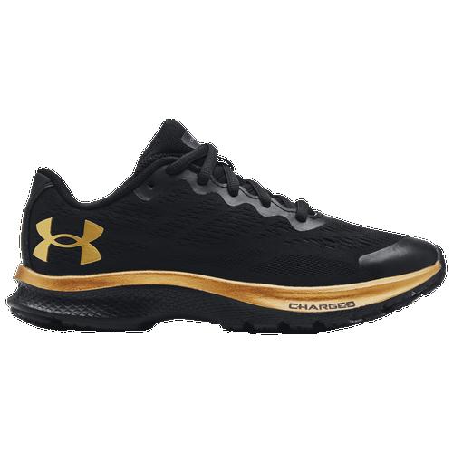 Under Armour Charged Bandit 6 - Boys' Grade School Running Shoes - Black / Black / Metallic Gold - 3023922-005