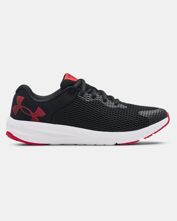 Boys' Grade School UA Charged Pursuit 2 Big Logo Running Shoes - 3024484-001