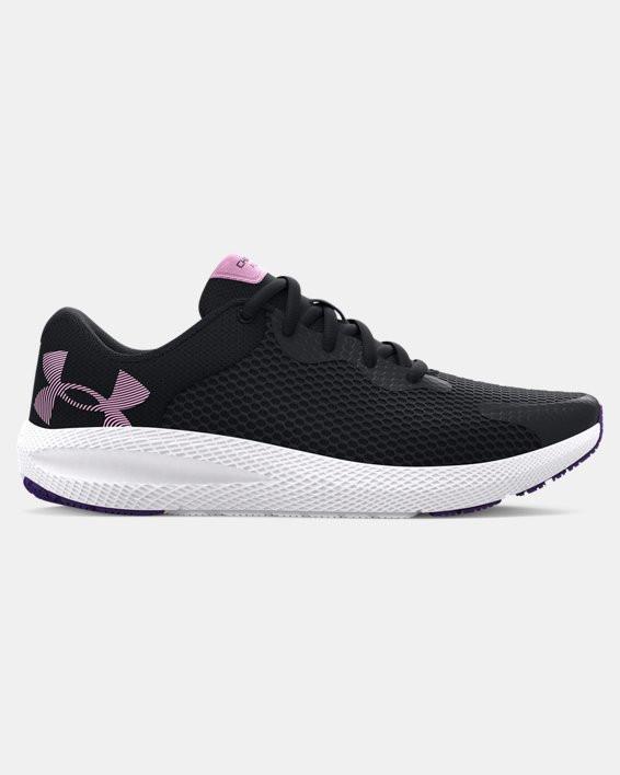 Girls' Grade School UA Charged Pursuit 2 Big Logo Running Shoes - 3024487-001