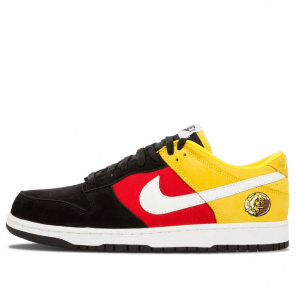 Nike Dunk Low Black/Wht-Chrm Yellow-Sprt Red 304714-014 - 304714-014