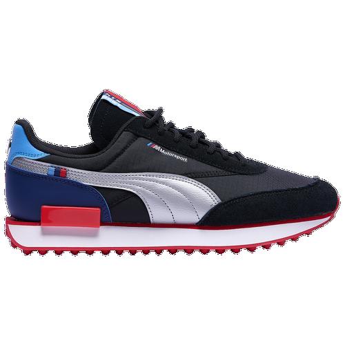 PUMA Future Rider - Men's Running Shoes - Black / Silver / High Risk Red - 30664901