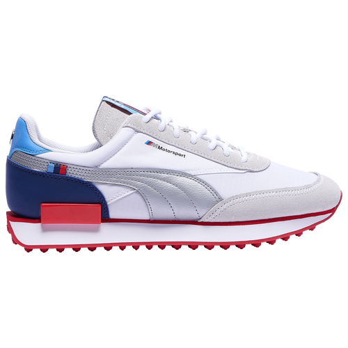 PUMA Future Rider - Men's Running Shoes - White / Silver / High Risk Red - 30664902