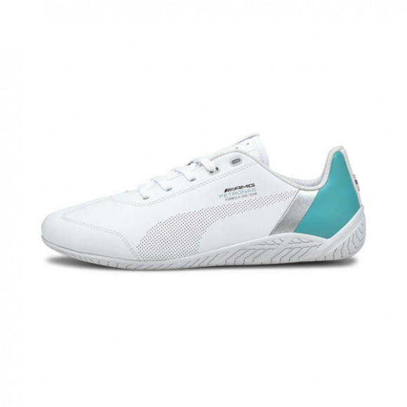 PUMA Mercedes-AMG Petronas F1 Ridge Cat Men's Motorsport Shoes in White/Spectra Green - 306650-01