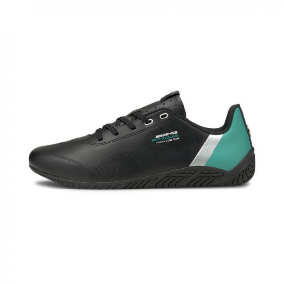 PUMA Mercedes-AMG Petronas F1 Ridge Cat Men's Motorsport Shoes in Black/Spectra Green/Ilver - 306650-02