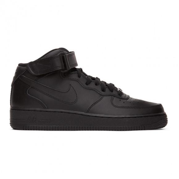 Nike Black Air Force 1 Mid 07 Sneakers - 315123