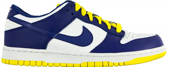 Nike Dunk Low White Wicked Purple Vibrant Yellow (W) - 317813-108