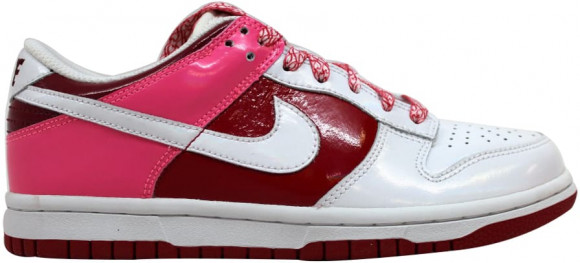 Nike Dunk Low White/White-Varsity Red-Team Red (W) - 317813-114