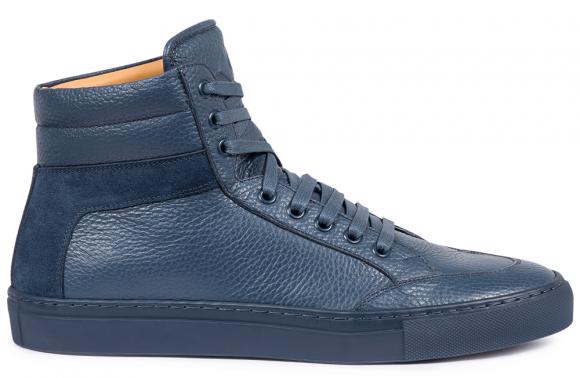 KOIO Men's High Top Atlantico Blue Leather Suede Primo 12 (US) / 45 (EU) - 3223896771