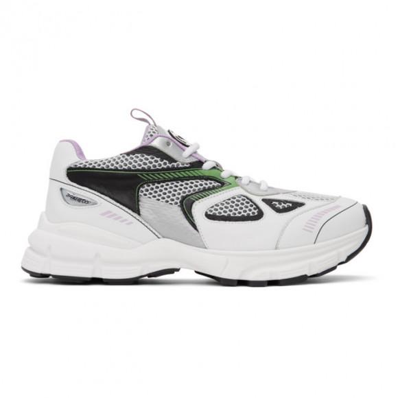 Axel Arigato White and Green Marathon Sneakers - 33035