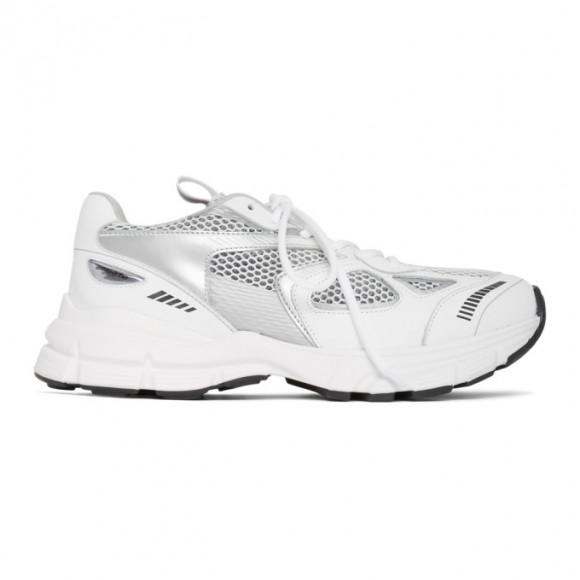 Axel Arigato White and Silver Marathon Sneakers - 33036