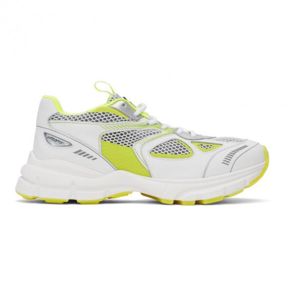 Axel Arigato White and Yellow Marathon Sneakers - 33037