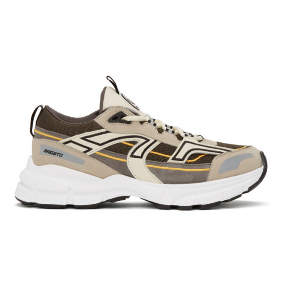 Axel Arigato Grey and Taupe Marathon R-Trail Sneakers - 33052