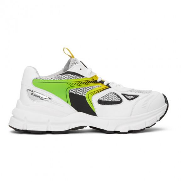 Axel Arigato White and Green Marathon HD Sneakers - 33058