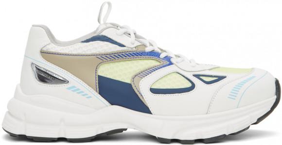 Axel Arigato White & Green Marathon Sneakers - 33080