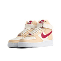 WOMENS AIR FORCE 1 HIGH WHITE ONYXNOBLE RED