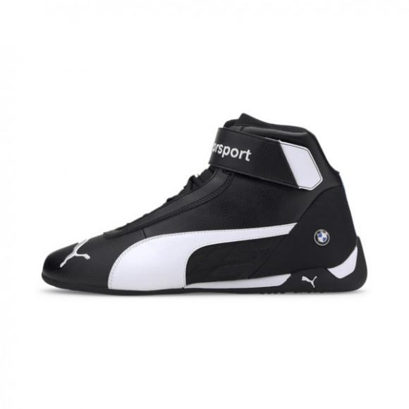 PUMA BMW M Motorsport R-Cat Mid Men's Motorsport Shoes in Black/White, Size 7 - 339932-01