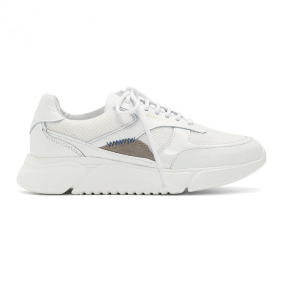 Axel Arigato White and Beige Genesis Sneakers - 35000