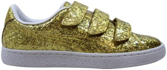 Puma Basket Strap Glitter Gold  (W) - 364070-02