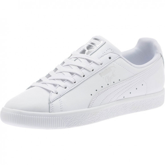 PUMA Clyde Core Foil Men's Sneakers in White/Silver - 364669-05