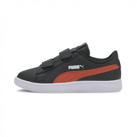 PUMA Smash v2 Leather Preschool Sneakers in Black/Covert Green - 365173-22