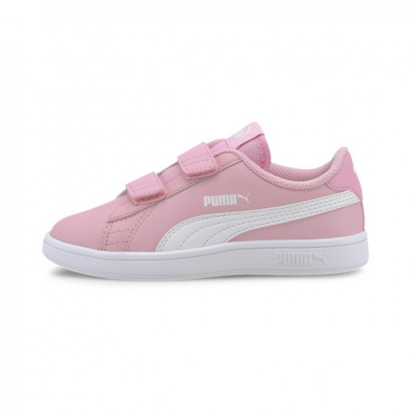 PUMA Smash v2 Leather Preschool Sneakers in Pale Pink/White - 365173-24