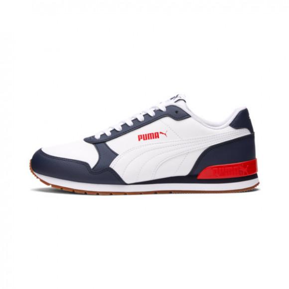 PUMA ST Runner v2 Sneakers in White/Grey/Violet - 365277-17