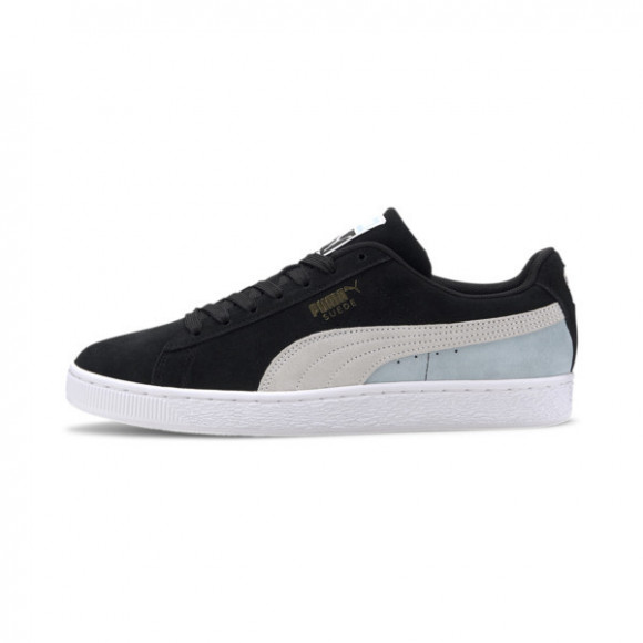 Puma Suede Classic Lace Up Sneakers Casual Shoes Black- Mens- Size 9 D - 365347-86